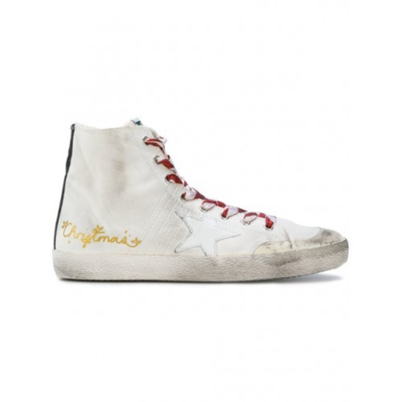 Christmas Sneakers.Golden Goose Limited Edition Christmas Sneakers
